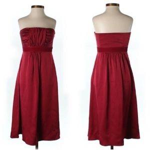 Red silk Banana Republic knee length dress
